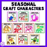 Seasonal Articulation & Language Craft Characters for Speech Language Therapy