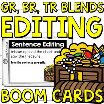 Sentence Editing Boom Cards: GR, PR, and TR Blends