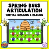 Spring Bee Articulation Initial Sounds Boom Cards