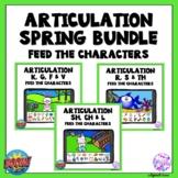 Spring and Summer Articulation Boom Cards Activity BUNDLE