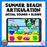 Summer Beach Articulation Boom Cards Activity