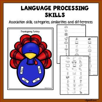 Thanksgiving Articulation & Language Turkey Craft