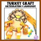 Thanksgiving Articulation and Language Turkey Craft