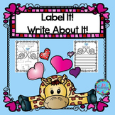Valentine's Day Writing with Labels!  ELL Activities