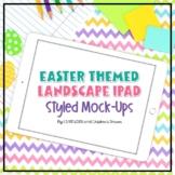 iPad Mock-up Landscape   Easter Pastels