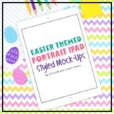 iPad Mock-up Portrait   Easter Pastels