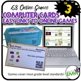 Computer Cards to easily link to online games - 3rd grade