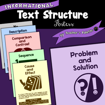 Informational Text Structure Posters with Signal Words (Color and Black & White)