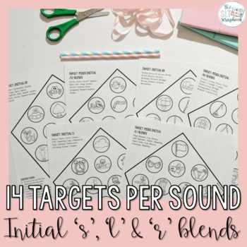 Speech Kites- s, l, r blends- No Prep Craft for Speech Therapy