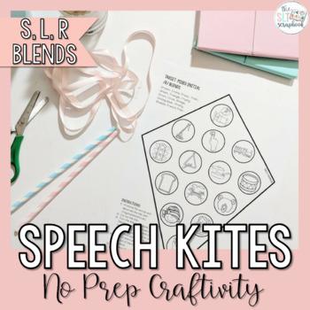 Speech Sounds Craft for Speech Therapy- Speech Kites- S, L, R, Blends