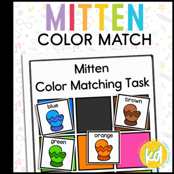 Colorful Mitten Matching Folder Game for Early Childhood Special Education
