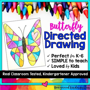Butterfly Directed Drawing ... Perfect for Spring , Bugs , or anytime!