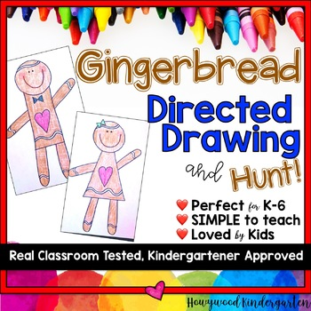 Gingerbread Directed Drawing ... Fun in December ... Winter ... anytime!