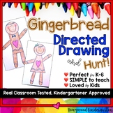 Gingerbread Man Directed Drawing & Hunt! . Fun @ Christmas . Winter . December