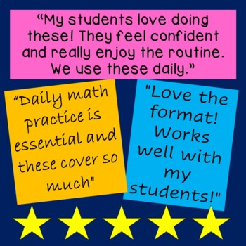 Daily Math for First Grade - Month 1