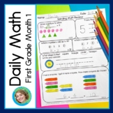 Daily Math for First Grade Month 1 DISTANCE LEARNING