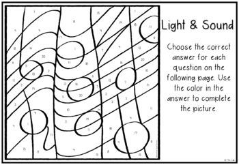 Light & Sound Color-by-Number