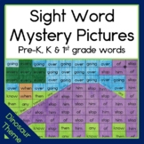 Dinosaur Sight Word Mystery Pictures Pre-primer, Primer, F