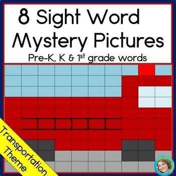 Sight Word Mystery Pictures: Transportation