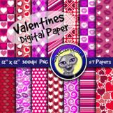 Valentines Digital Paper Backgrounds