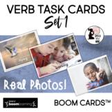 Verb BOOM Cards™ : Task Cards Set 1 Real Photos ! Distance