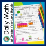 Daily Math for First Grade Year Long Bundle DISTANCE LEARNING