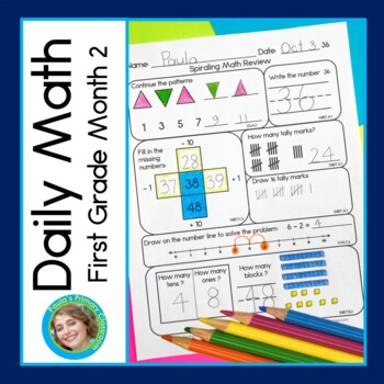Daily Math for First Grade - Month 2