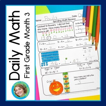 Daily Math for First Grade - Month 3