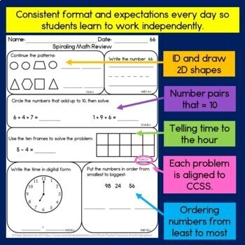 Daily Math for First Grade - Month 4