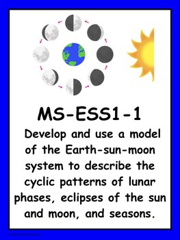 Middle School NGSS Earth and Space Systems Vocabulary Cards and I Can Statements
