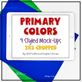 iPad Mock-ups | Primary Colors Styled Images for Pins | La