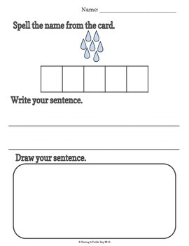 Sentence Building for Little Learners- Plants