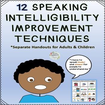 Speaking Intelligibility Improvement Techniques Handouts