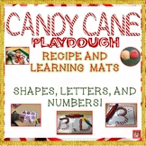 Candy Cane Playdough Recipe and Letter, Shape & Number Lea