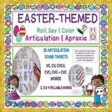 EASTER ROLL, SAY & COLOR ARTICULATION & APRAXIA