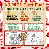 No Prep-Just Fun! Gingerbread Articulation: 36 Sounds + CV