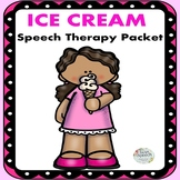Ice Cream Speech Therapy: Articulation, Concepts & Capitalization Worksheets
