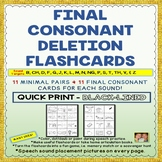 MINIMAL PAIRS & FINAL SOUND FLASHCARDS FOR FINAL CONSONANT DELETIONS- No Prep!