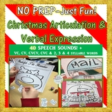 "NO PREP–Just Fun! Christmas Articulation & Verbal Expression Color, Say & ""Feed"""