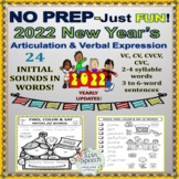 NO PREP–Just Fun! New Year's Articulation & Verbal Express