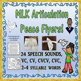 Peace Flyers For Dr. Martin Luther King Day: No Prep Articulation