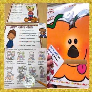 Pumpkin Grammar: Pronouns, Prepositions & Concepts: Worksheets & Activities