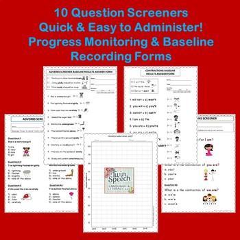 GRAMMAR: Quick Informal Assessments & Progress Monitoring - 2nd to 9th grade