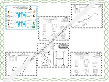 Alphabet Playdough Mats for /CH/, /SH/ & /TH/ Sounds & In Words