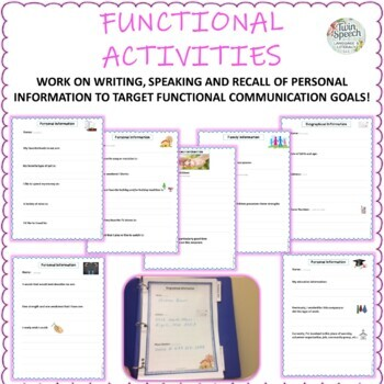 Communication Notebooks for Men & Women: Aphasia and/or Memory Loss