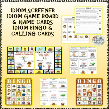 Interactive Idioms: Illustrated Idiom Posters, Flashcards, Worksheets, & Games