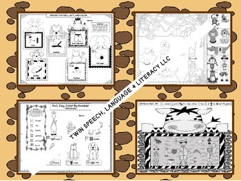 Speech Therapy:Jungle Safari Artic: AR, F, G, L, S, SH, T, TH, & S/L Blends