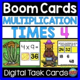 Digital Math BOOM CARDS Multiplication Facts Times 4
