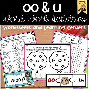 oo and u Word Work Activites