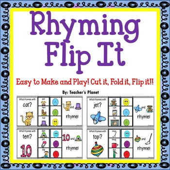 Phonological Awareness Rhyming Flip It!